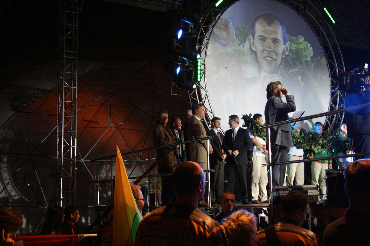 Meeting of bronze EuroBasket 2007 medalists in Vilnius, Lithuania