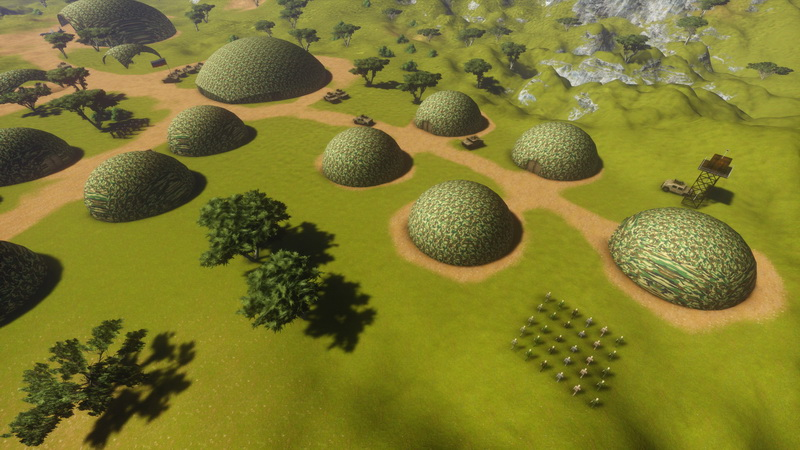 Geodesic Structures for national defense   Army Domes