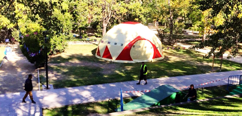 Tandarica Circus Passa baret Cia Ø15m Geodesic Dome, Espana