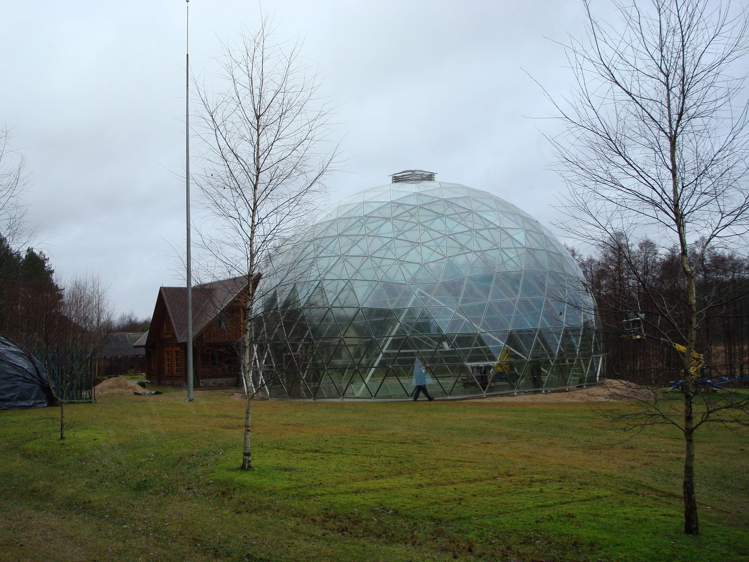 Pyramid of Merkinė @ Glass Geodesic Dome Ø23m, Merkine, Lithuania
