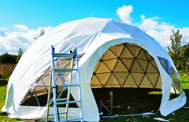 Geodesic Glamping Dome 50m2 Ø8m Coomleagh, Ireland