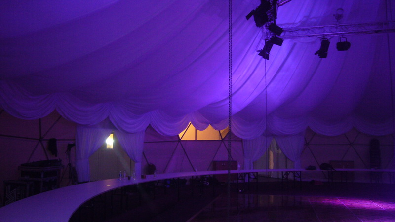 VIP Club 450m2 | Portable Geodesic Domes Ø20m & Ø13m, Jusine, Lithuania