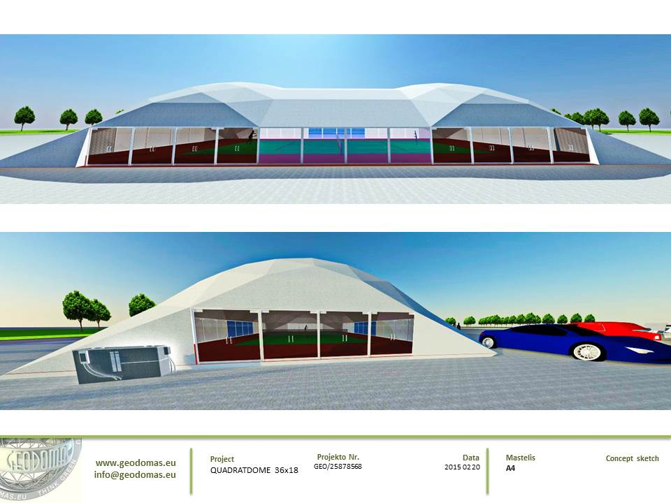 Dome Roof's For Tennis Court | Single courts, 2, 3, 4 or more courts