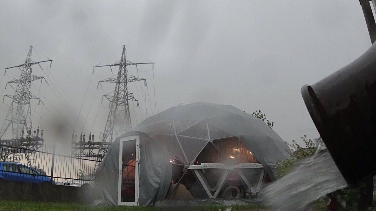 Studio pour bungalows d'exposition 50m2 | Dôme géodésique, Vilnius, Lituanie