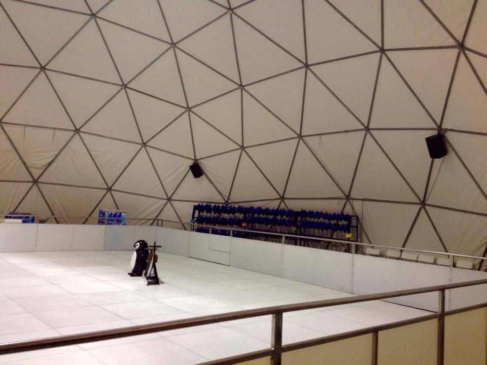 Dome Cover for ICE SKATING RINK Ø16x60m