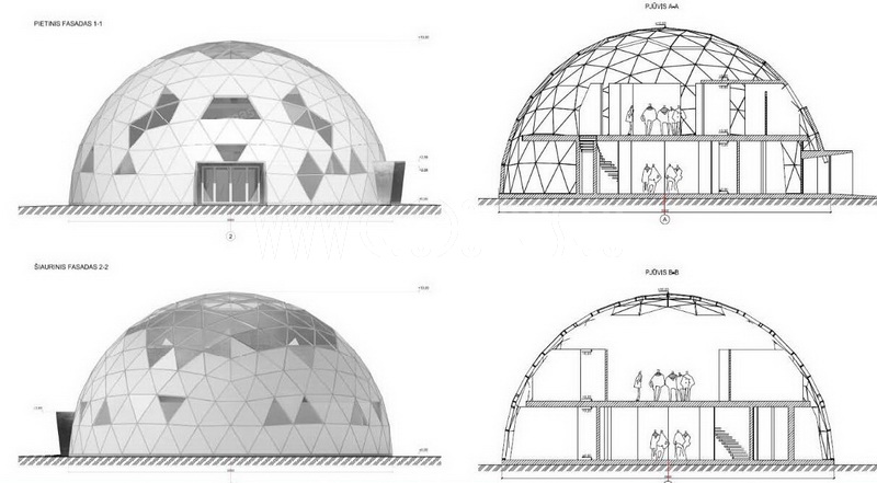 Ø20m Dome Structure 460m2 | Office building in Vilnius