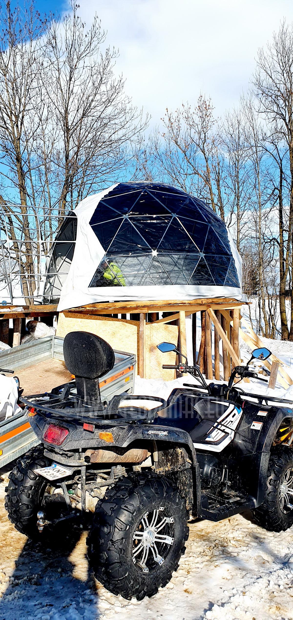 35m²+ 20m² Glamping SPA Domes Ø6,7m & Ø5m | Zakopane Resort, Poland