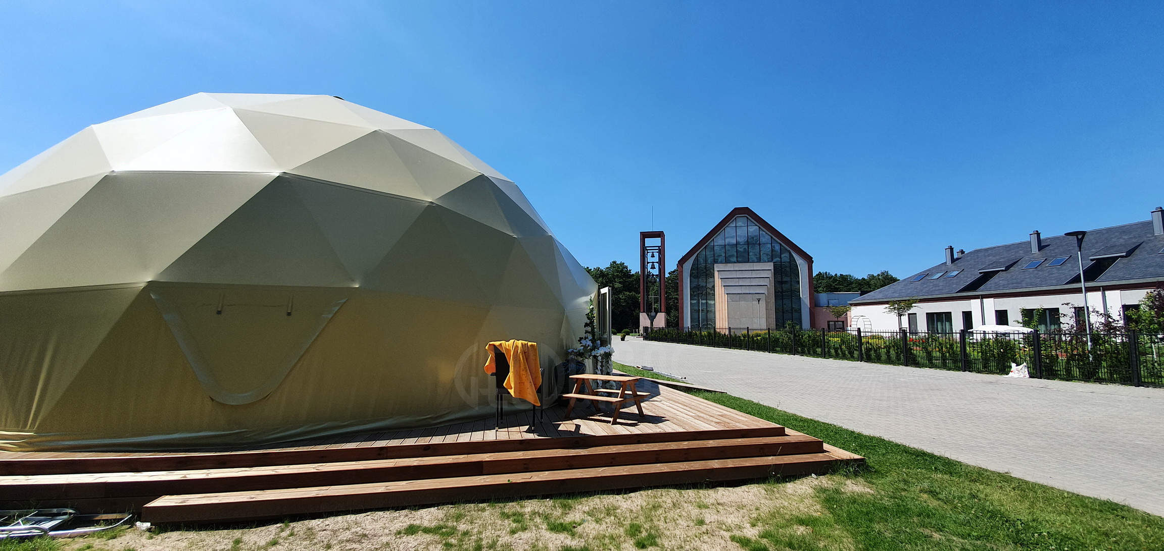 ⌀11m 95m2 Spiritual Dome @ St.Francis of Assisi monastery in Klaipeda