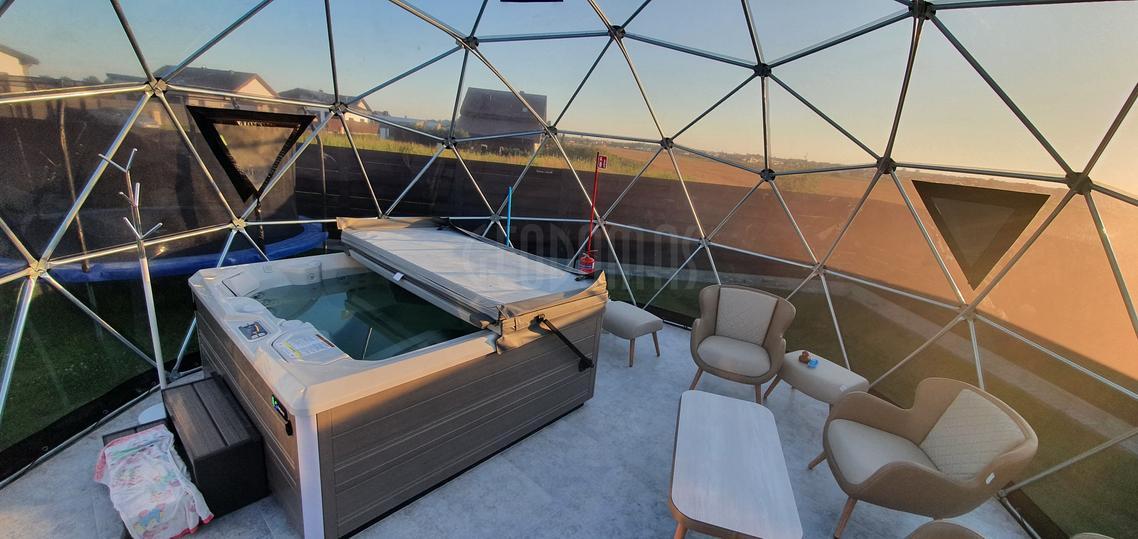 28m2 ⌀6m SPA Dome Jacuzzi – Full Transparent   Klaipeda