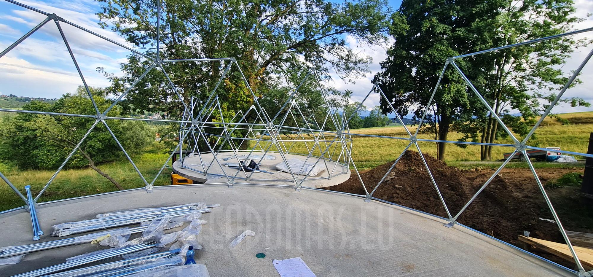 35m²+20m² Glamping SPA Domes Ø6,7m & Ø5m   Zakopane, Poland